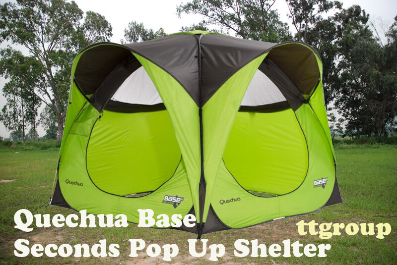 quechua waterproof pop up camping tent base seconds 4 6. Black Bedroom Furniture Sets. Home Design Ideas