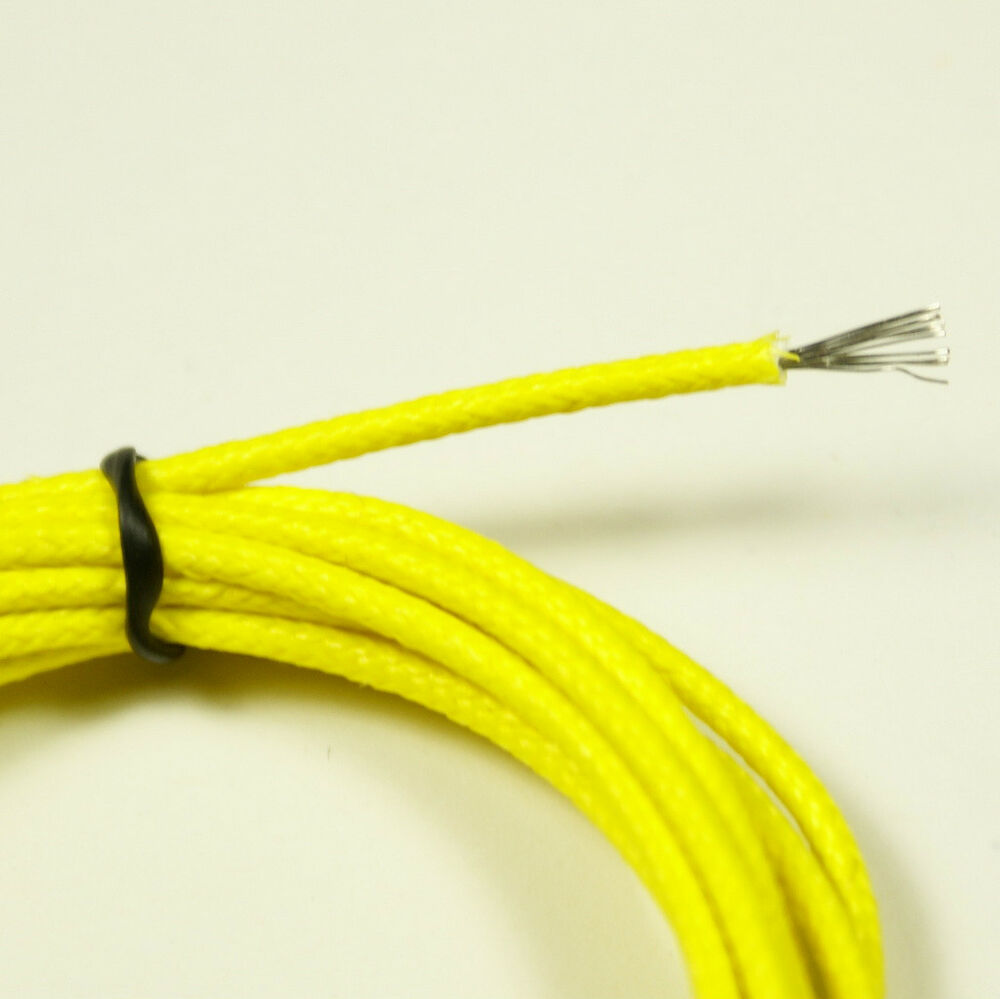 vintage style single conductor guitar wire 6 foot 22 awg yellow ebay. Black Bedroom Furniture Sets. Home Design Ideas