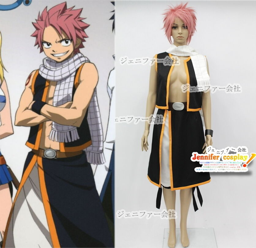 fairy tail natsu dragneel cosplay costume custommade ebay