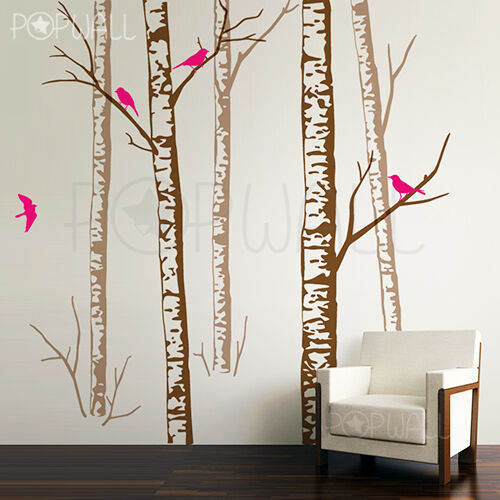Realistic Birch Forest Tree Wall Decal Wall Sticker Trees
