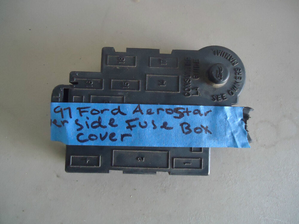 interior driver side fuse box cover black 95 96 97 ford. Black Bedroom Furniture Sets. Home Design Ideas