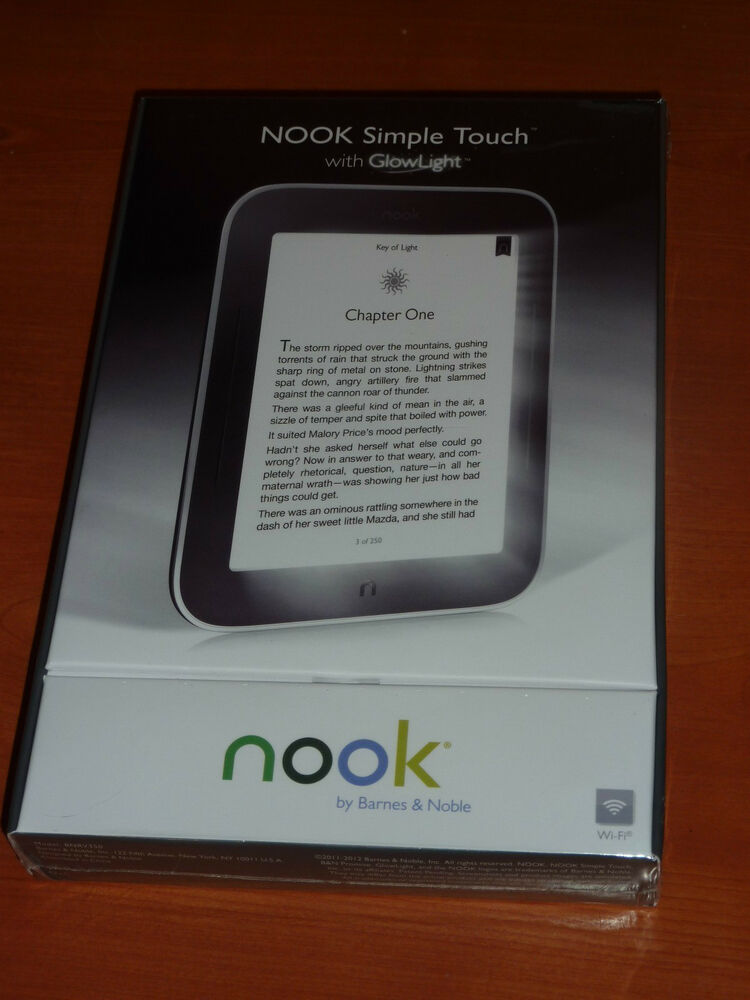 New Barnes Amp Noble Nook Simple Touch With Glowlight 2gb