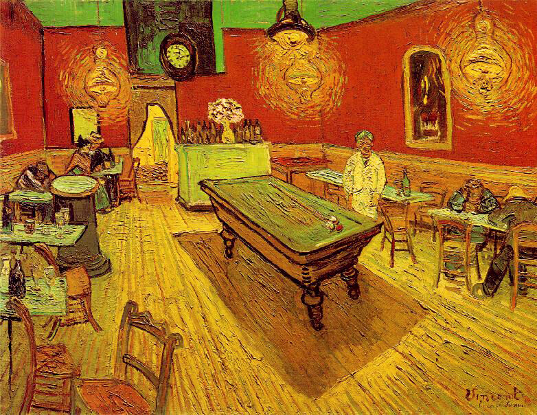 Vincent Van Gogh The Night Café c 1888 Art Print Poster