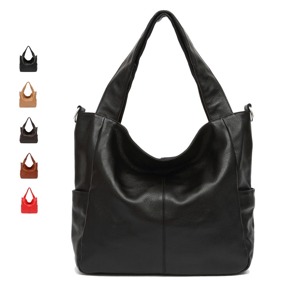 large size genuine leather office lady women female handbag shoulder tote bag ebay. Black Bedroom Furniture Sets. Home Design Ideas