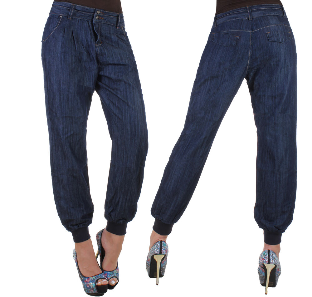 damen jeans hose chino boyfriend aladin baggy harem pluder pump pumphose 7z ebay. Black Bedroom Furniture Sets. Home Design Ideas