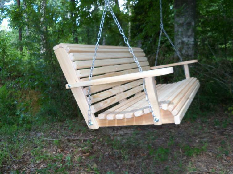 porch swing 5 ft cypress swings made in usa on sale free shipping made in usa ebay. Black Bedroom Furniture Sets. Home Design Ideas