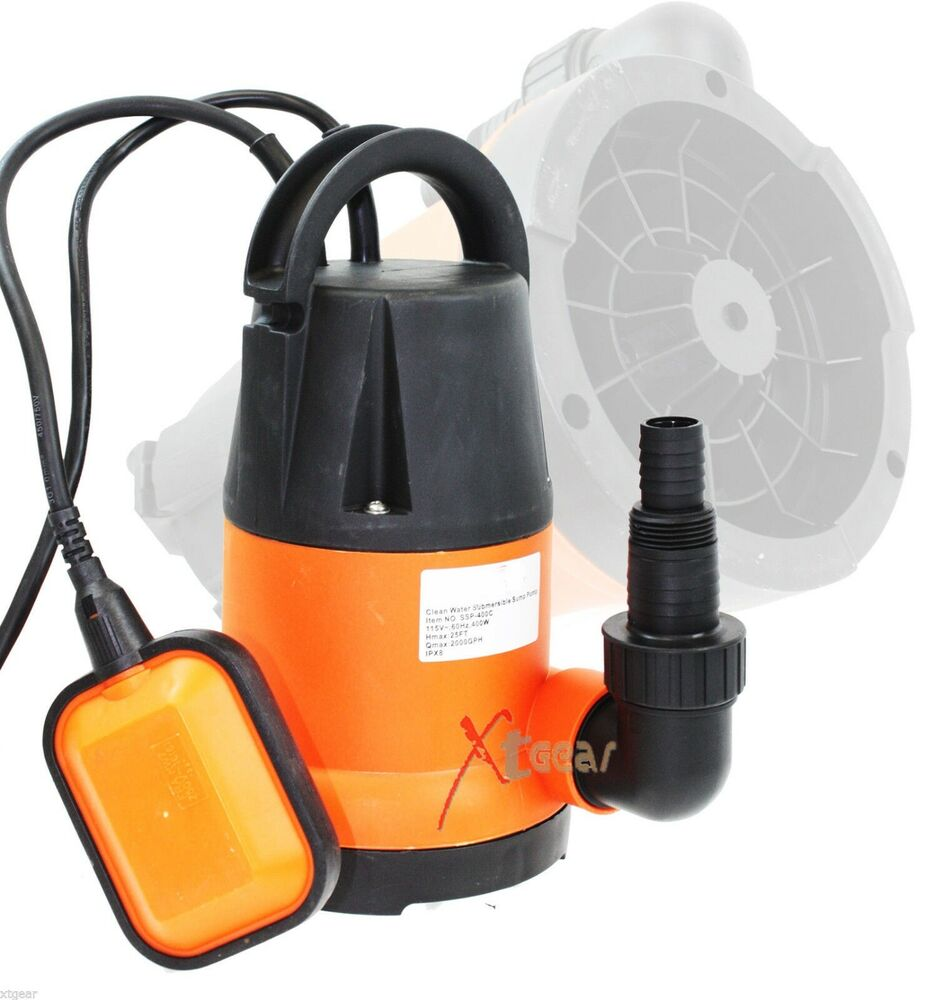 400w 1 2 hp 20000 gph dirty water submersible water drain for Pond drain pump