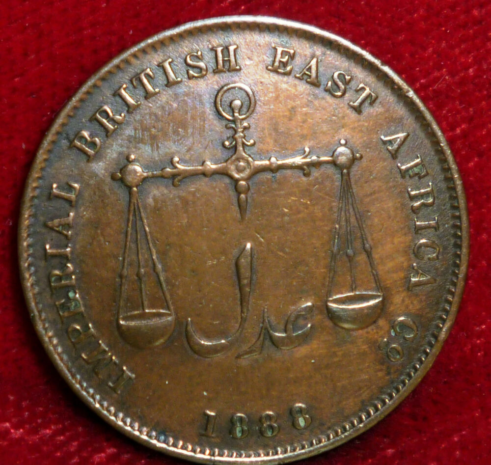 1888 Mombasa 1306 Ah Imperial British East Africa Co Beautiful Coin Nice Edges Ebay