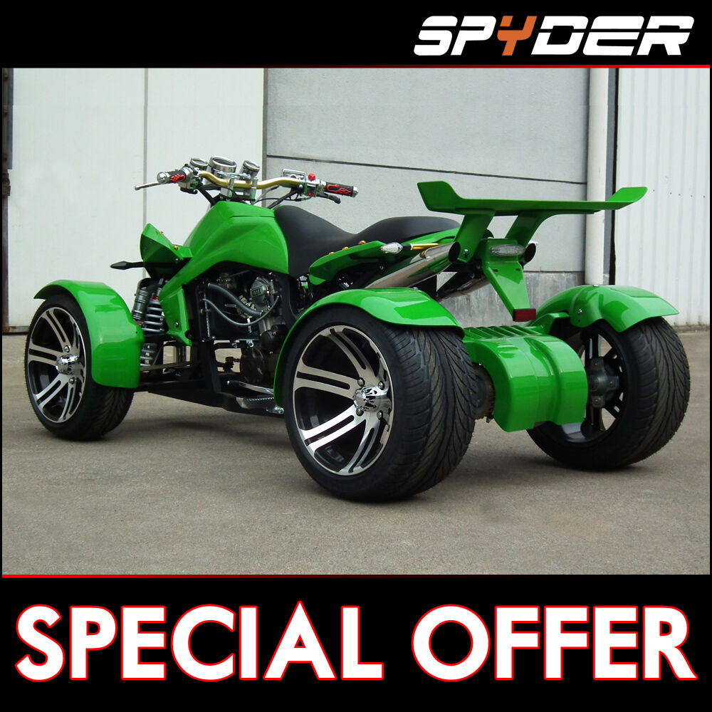 Street Bike Quad: SPYDER ROAD LEGAL QUAD BIKE 250cc & 350cc SPY RACING BIKES