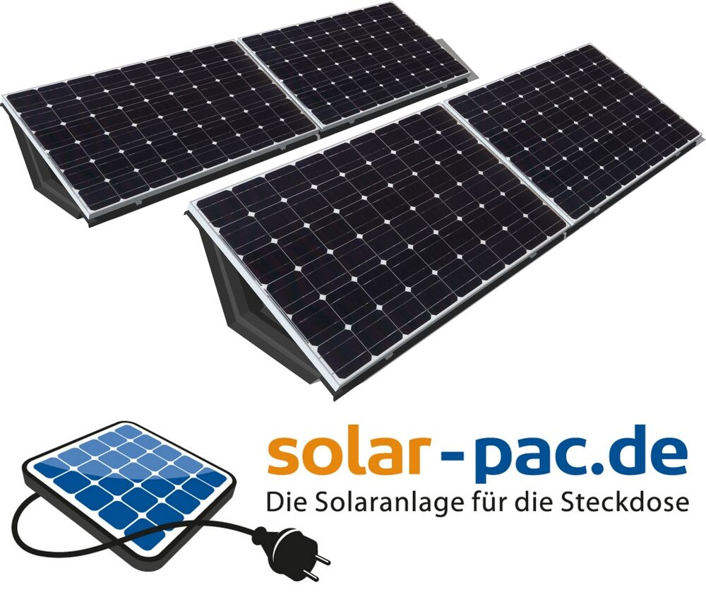 plug play solaranlage photovoltaikanlage f r die steckdose 1 kwp ebay. Black Bedroom Furniture Sets. Home Design Ideas