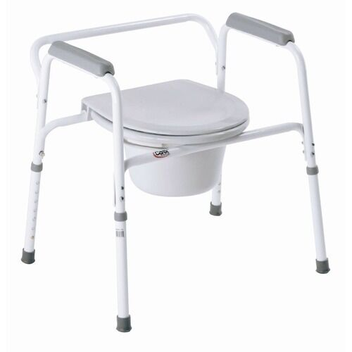 Bedside Steel Commode B35711 Bathroom Toilet Seat Safety