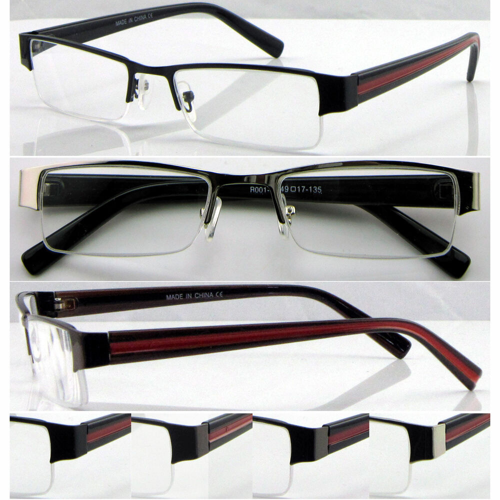 L415 High Quality Semi-Rimless Reading Glasses/Point red ...