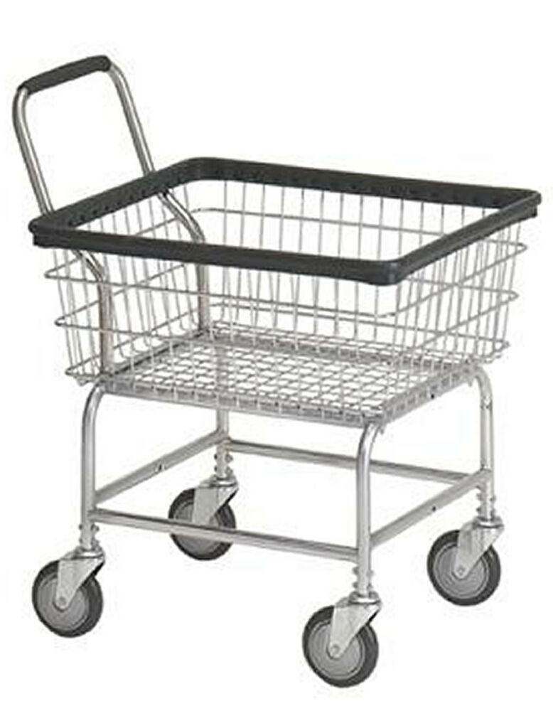 laundry cart on wheels laundry cart 2 5 bushel with wheels amp basket heavy duty 10536