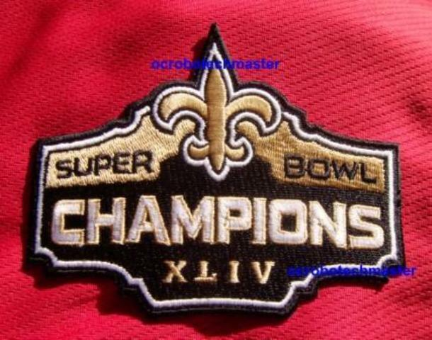 new orleans saints super bowl xliv 44 champions patch ebay