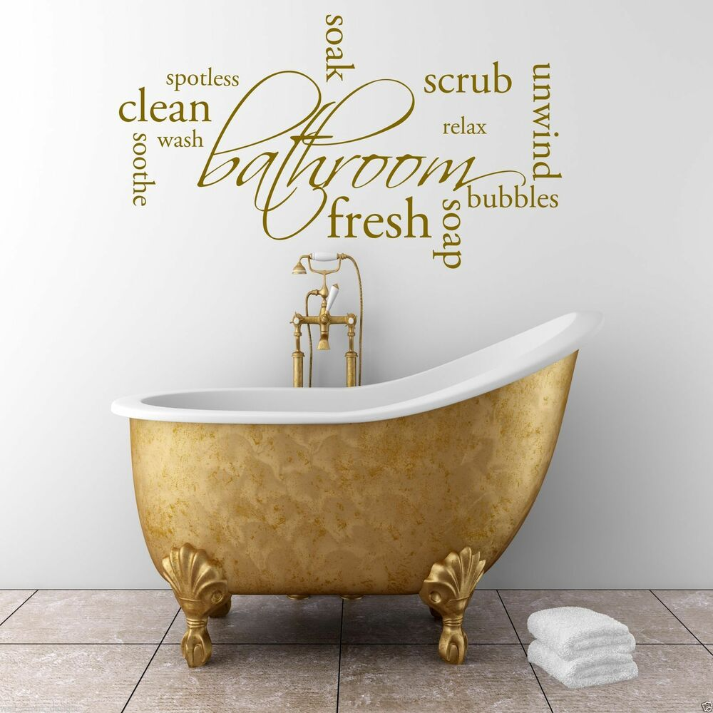 Relax Soap Bathroom Wall Art Sticker Quote Decal Mural ...
