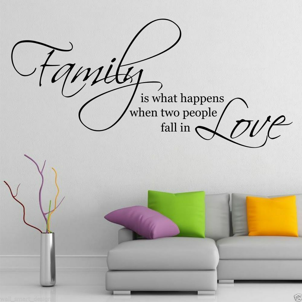 Family Love Wall Art Sticker Quote Living Room Decal Mural Stencil