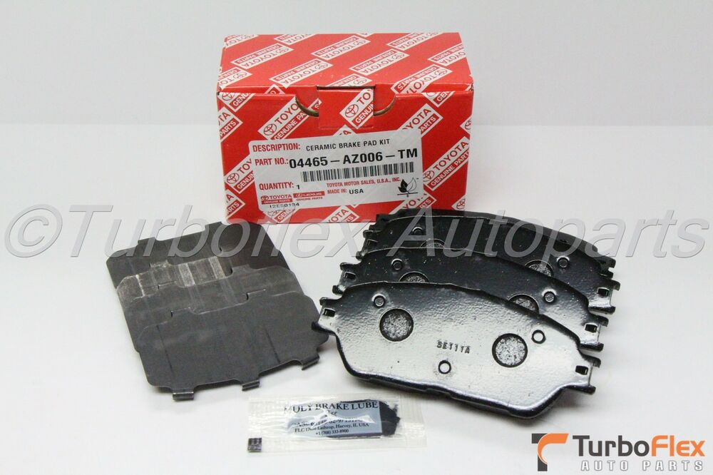 toyota sienna 2004 2010 front ceramic brake pad set genuine oem 04465 az006 tm ebay. Black Bedroom Furniture Sets. Home Design Ideas