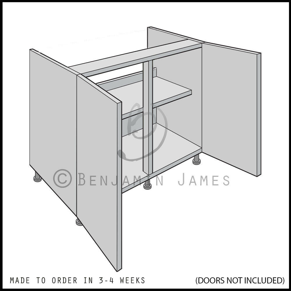 Kitchen Carcass Unit Hi Line Sink Hob Base Cabinet 18mm Back 100