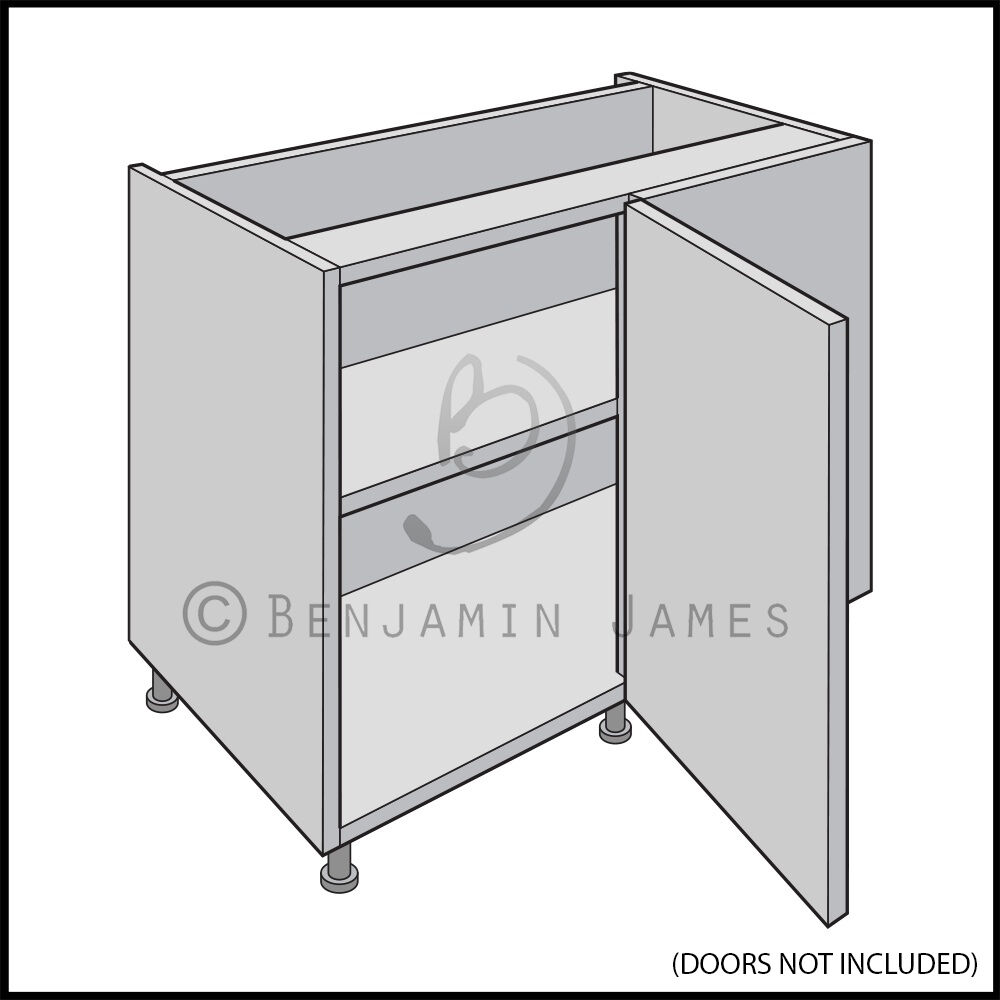 kitchen wall cabinet carcass kitchen carcass unit hi line corner cabinet 18mm back 22123