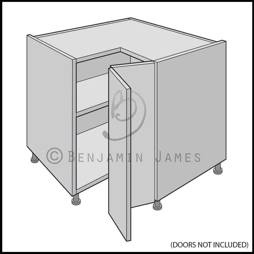 Kitchen carcass unit l shape corner base unit 18mm for White kitchen carcasses