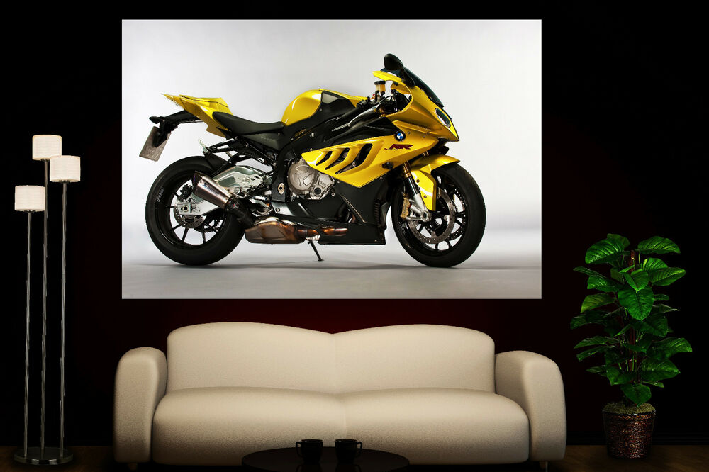 canvas wall art prints bmw s1000rr sport motorcycle colorful photo print decor ebay. Black Bedroom Furniture Sets. Home Design Ideas