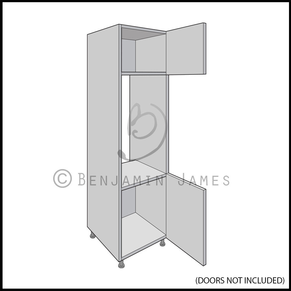 Kitchen Cabinet Carcasses: Tall Appliance Housing 600mm