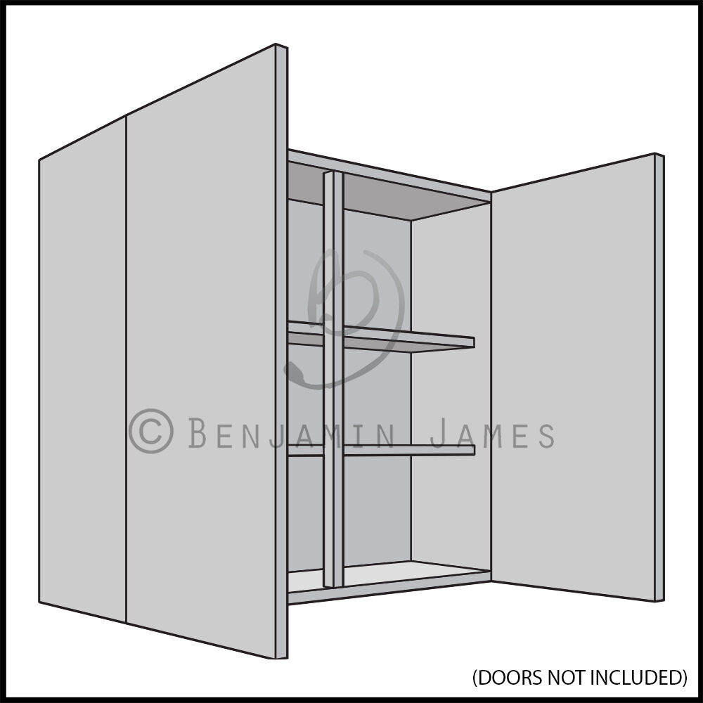Kitchen carcass unit double wall cabinet 900mm high for Kitchen cabinets 900mm high