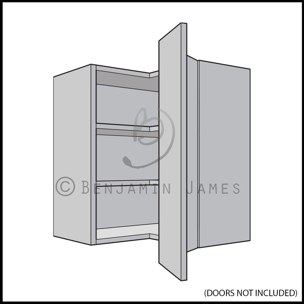 Kitchen carcass unit l shape corner wall cabinet for Carcass kitchen cabinets