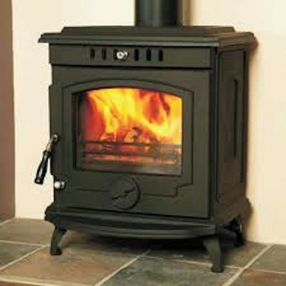 Hamco Glendine Stove Multi Fuel Cast Iron Wood Burning Fire Glass Door New Ebay