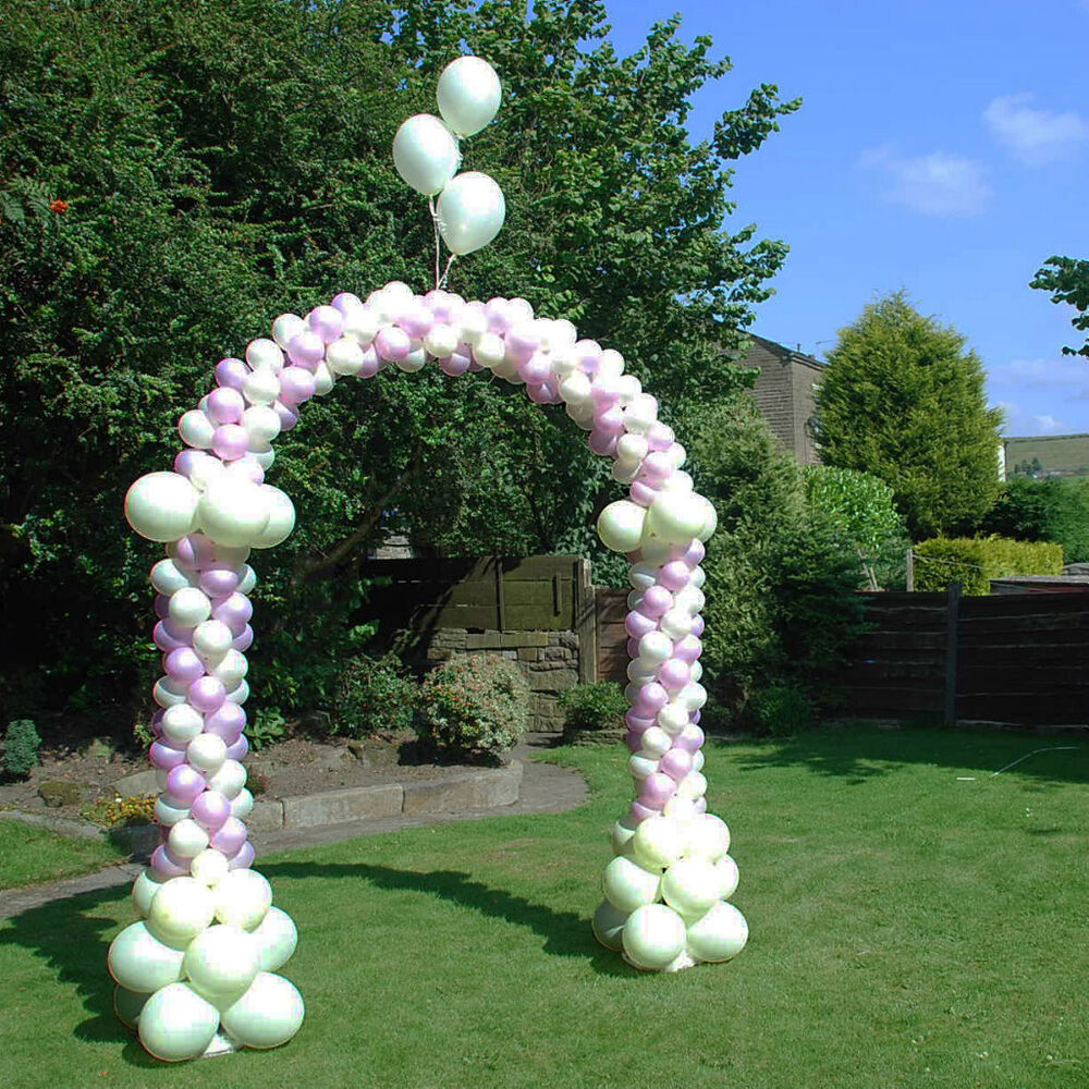 Garden wedding event decoration walk through balloon arch for 7 star balloon decoration