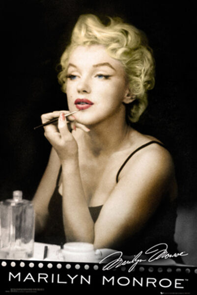 marilyn monroe w lipstick framed poster 24x36 postersesrvice 33806 ebay. Black Bedroom Furniture Sets. Home Design Ideas