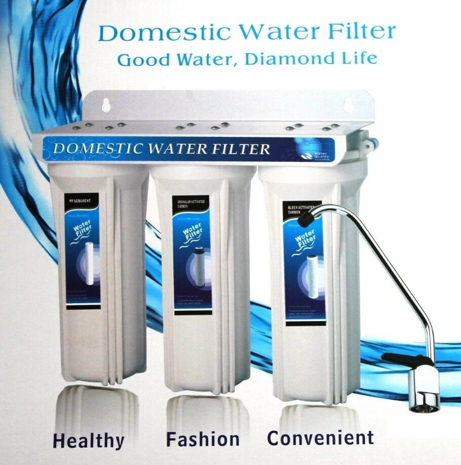 Under Sink Three Stage Domestic Water Filter System Ebay