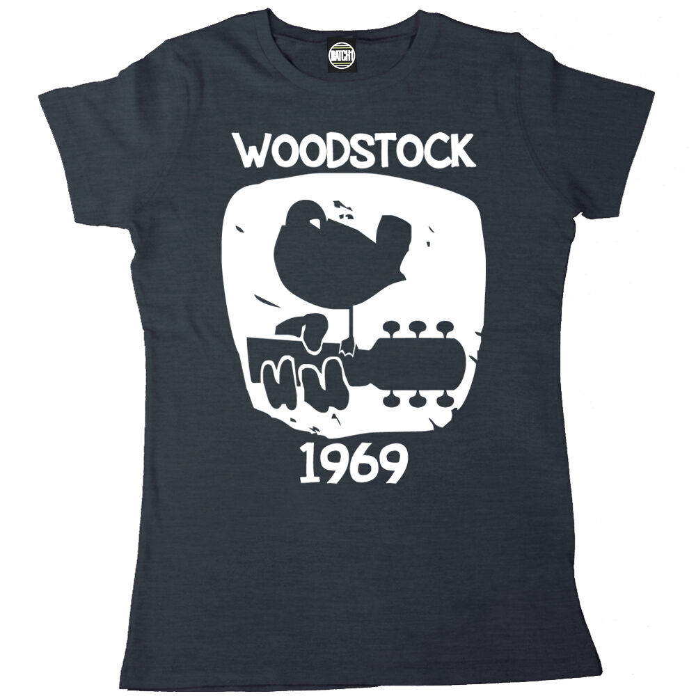 Woodstock 1969 vintage womens printed classic music for Vintage t shirt printing