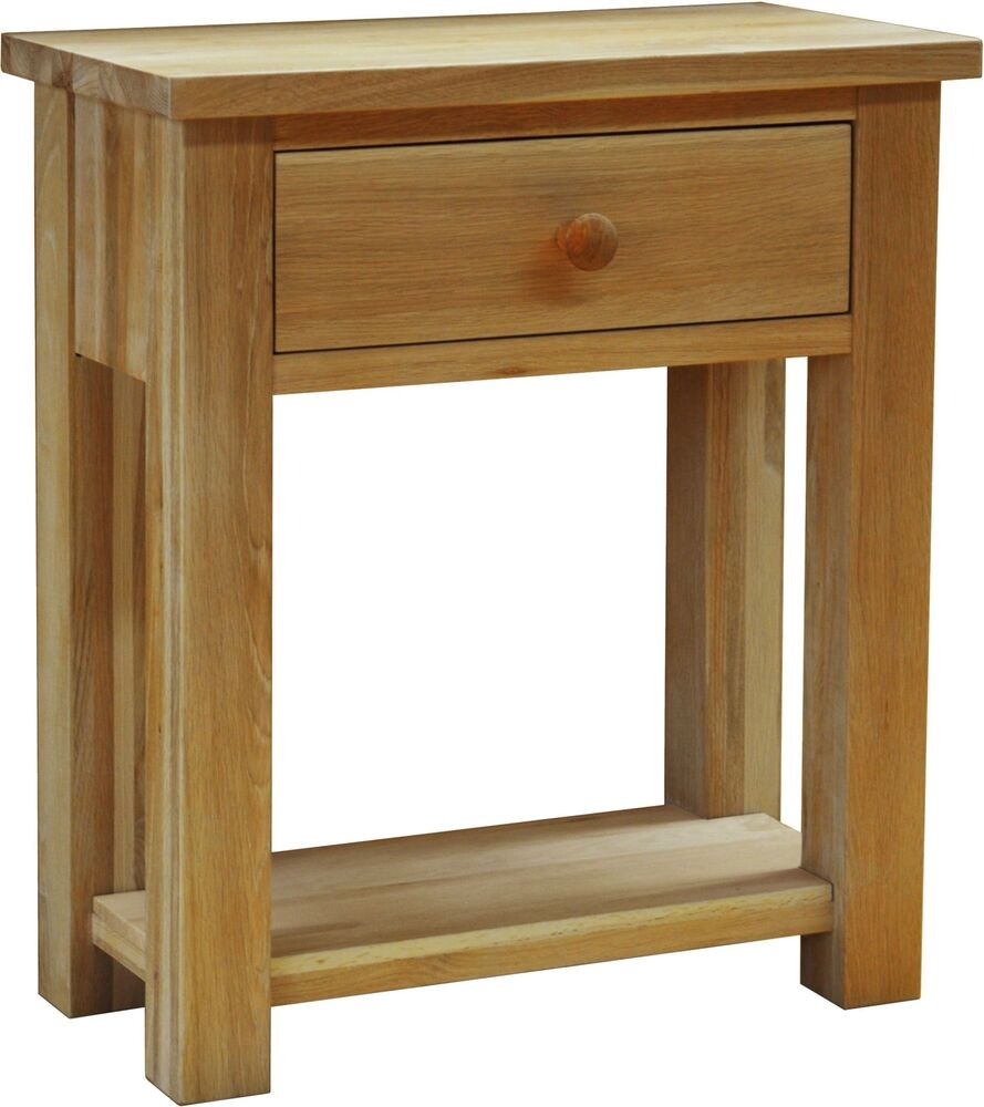 Foyer Table Oak : Drake solid oak hallway furniture small console hall table