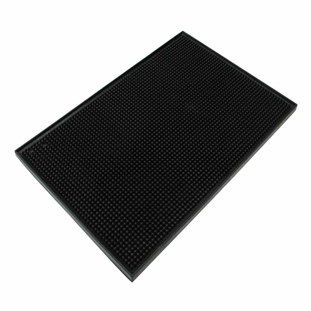 Bar Mat Cocktail Rubber Waitress Server Serving Black 12