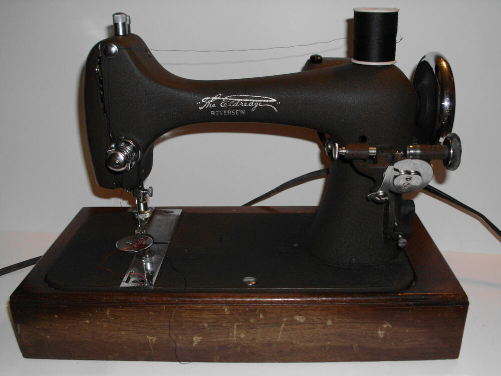 antique the eldredge national sewing machine national model rusa vintage case ebay. Black Bedroom Furniture Sets. Home Design Ideas