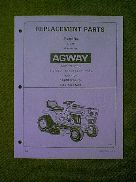 Agway 2125 lawn Tractor Manual on