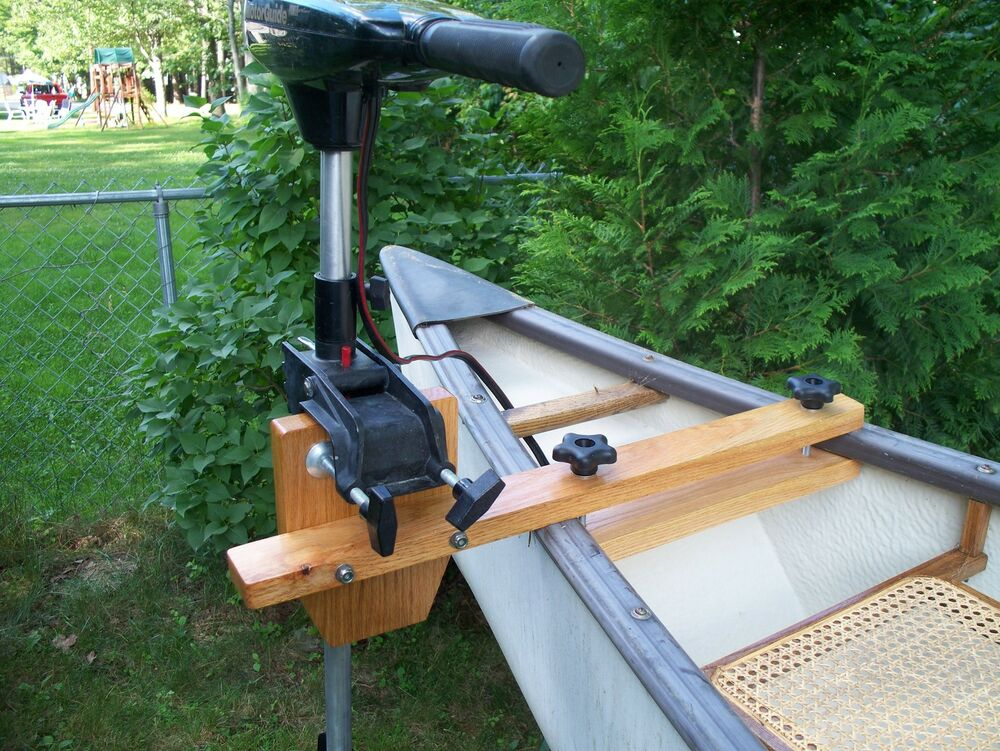 Maine Made Oak Canoe Motor Mount Ebay
