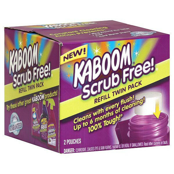 Kaboom 35261 Scrub Free Toilet Cleaner Refill 2 Pack