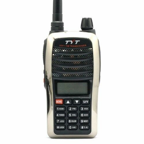 tyt th uvf1 dual band vhf uhf two way radio w ani scrambler sliver ebay. Black Bedroom Furniture Sets. Home Design Ideas