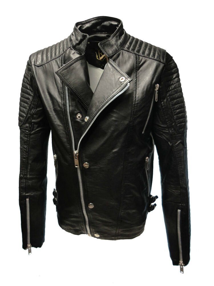 neu absolute von ricano herren echt biker lederjacke s m l xl xxl schwarz ebay. Black Bedroom Furniture Sets. Home Design Ideas