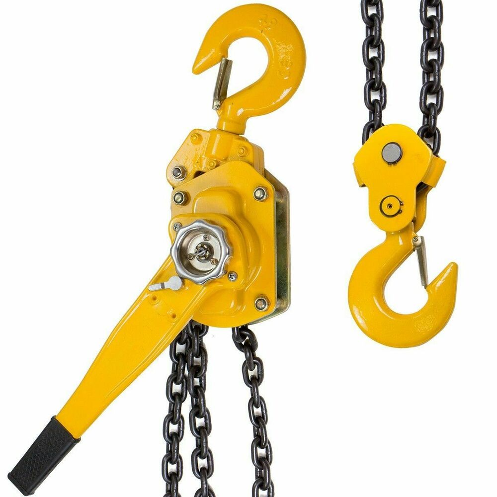 3 4 ton lever block chain hoist ratchet type come along for 1 4 ton chain motor