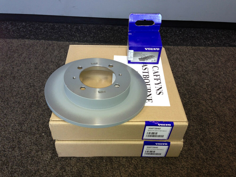 genuine volvo s40 v40 rear brakes brake discs pads 1996 2004 30872940 ebay. Black Bedroom Furniture Sets. Home Design Ideas