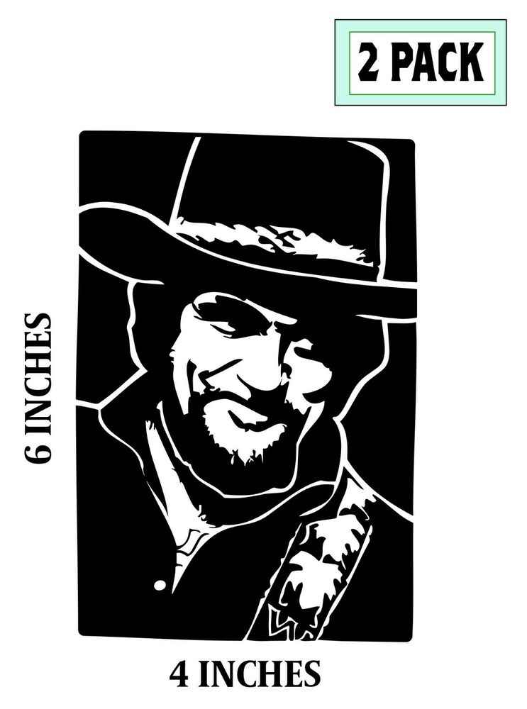 2 Waylon Jennings Stickers Cut Vinyl Decals The Highwaymen