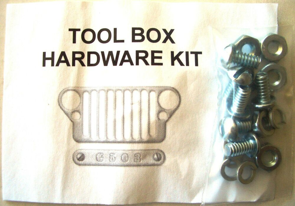 Jeep WW2 1941-45 Willys MB Ford GPW Tool Box Lid Hardware ...