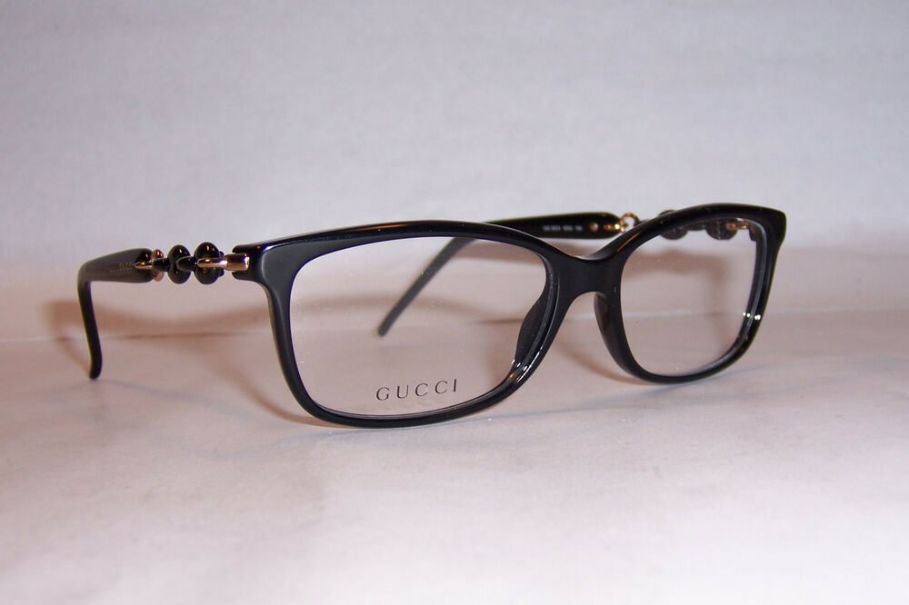 NEW GUCCI EYEGLASSES GG 3624 6DQ BLACK 53mm RX AUTHENTIC ...