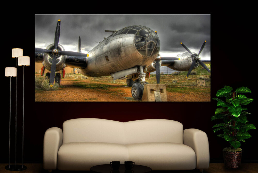 Wall art propeller airplane canvas giclee print photo for Aircraft propeller decoration