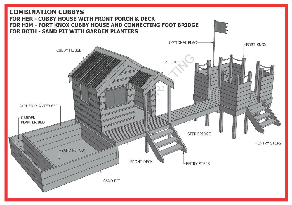 Play Fort Tree House Plans   Free Online Image House Plans    Free Cubby House Building Plans on play fort tree house plans Kids