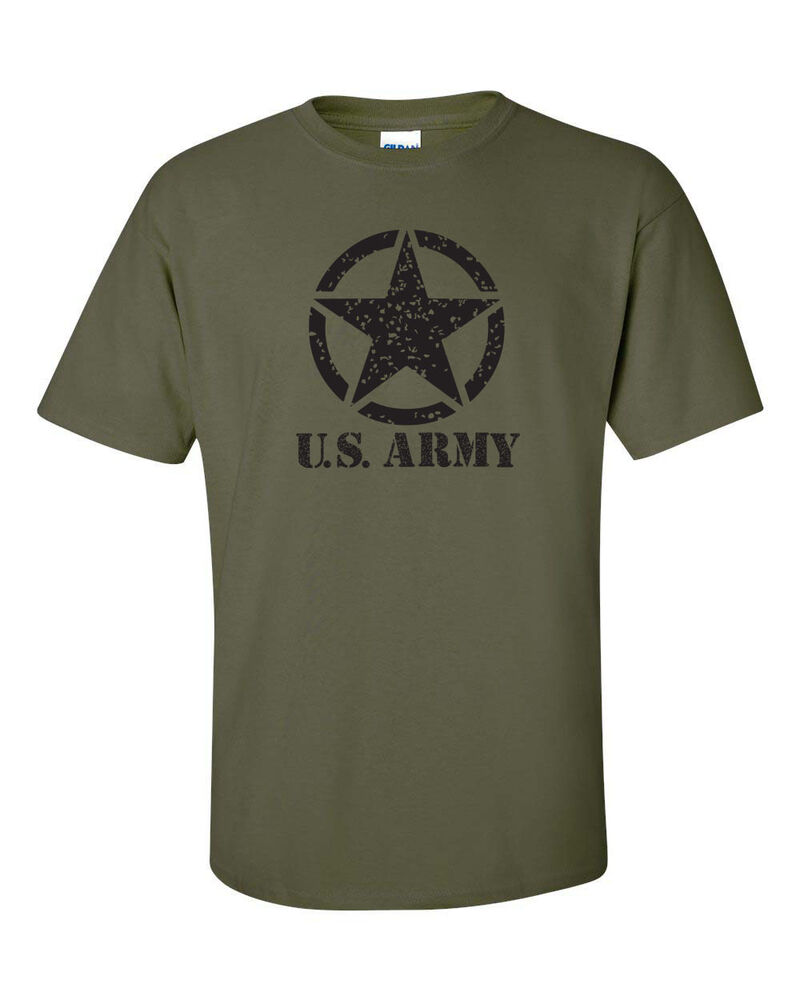 U s united states army military star in circle men 39 s tee for Military t shirt companies
