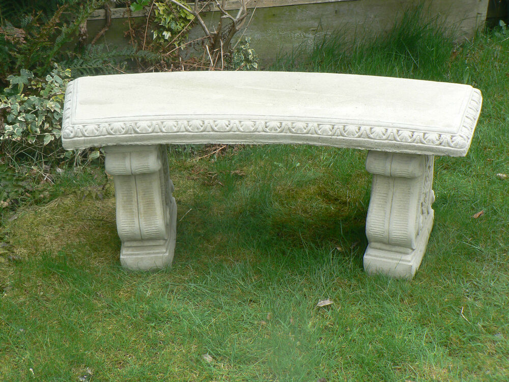 Stone Curved Garden Bench Collection From St14 Area Ebay